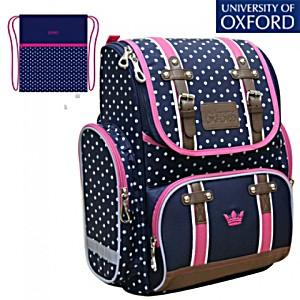 Школьный рюкзак Oxford Оксфорд син/роз 1074-OX-135 + мешок для обуви