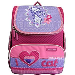 Школьный рюкзак облегченный Mike&Mar Майк Мар Котик арт. 1075-MM-43 + пенал